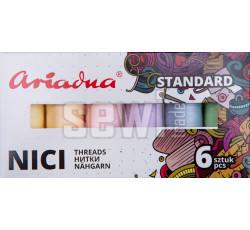 Sestava nití Standard Pastel Talia 120/200 m - 6 barev (pastelové)