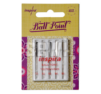 Jehly Inspira Pfaff, Husqvarna 620106396 ball point - 70, 80, 90 - 5 ks