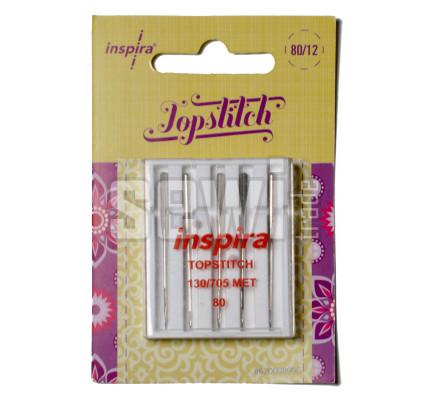 Jehly Inspira Pfaff, Husqvarna 620098996 topstitch - 80 - 5 ks