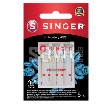 Jehly na vyšívání Singer 5x80-90