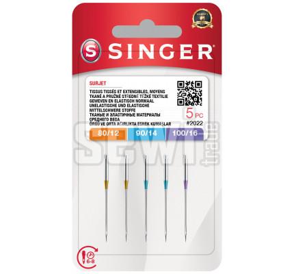 Jehly Singer 2022 - 80/12, 90/14, 100/16 - 5 ks - Overlock (ELx705)