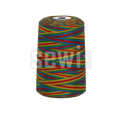 Polyesterová nit žíhaná Viga 80 multicolor - 9049