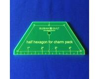 """Šablona """"Půl Hexagon"""" - Charm Pack"""