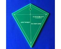 """Šablona """"Hexagonový Okvětní Lístek"""" - Charm Pack"""