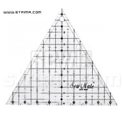 Pravítko trojůhelník ET608 BK