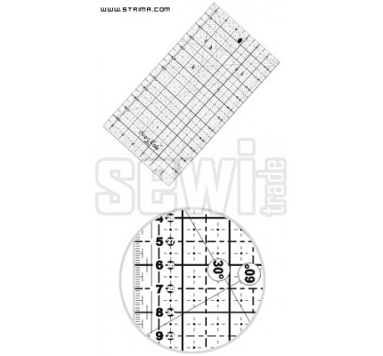 Pravítko 16x32cm M1632 BK