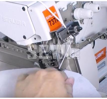 Mechanický předepínač gumičky overlock
