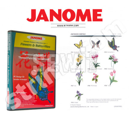 Janome Embroidery COLLECTION - FLOWERS