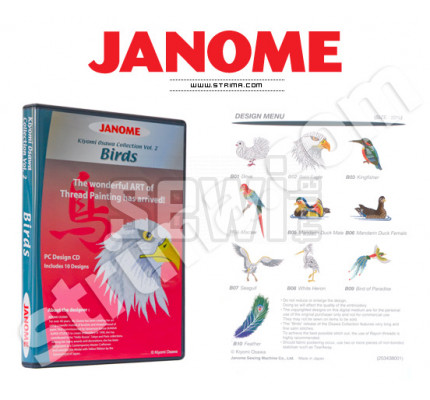 Janome Embroidery COLLECTION - BIRDS